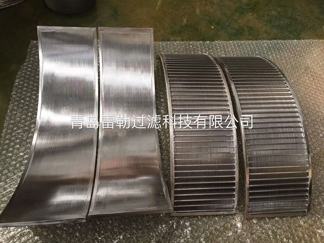 Dewatering SS316L Wedge Wire 0.15mm Slot Sieve Screen